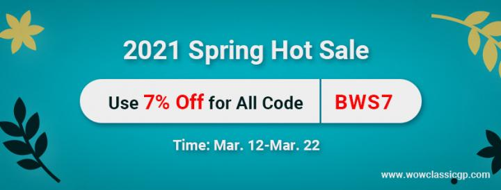 Take Part In2021 Spring Hot Sale for Up to 7% off cheap wow cla